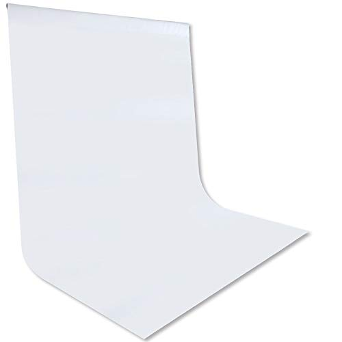 CIPAZEE White Backdrop Photography Background - 6FT x 10FT for Photoshoot Photo Background for Photography Screen Video Recording Backdrop Curtain