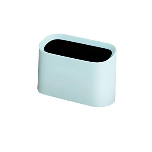 Xu Yuan Jia-Shop Bote de Basura Bote de Basura de Escritorio, Caja de Almacenamiento de Escritorio de Mesa de cabecera de diseño Creativo y Mini Cocina Liviana (3 litros) Papelera (Color : Blue)