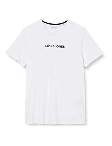 JACK & JONES Herren Jacrain Tee 3 Pack T-Shirt, White/Detail:White-White, XL (3er Pack)