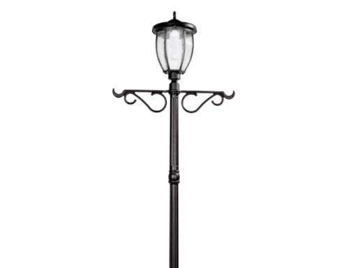 Nature Power Products 23107 Solar Powered LED Lamp Post & Planter, Black
