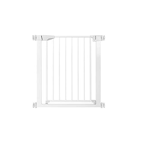LSZHAO Barrera de Seguridad de Fácil Instalación para Puertas y Escaleras, Escalera Dormitorio Valla Extensión Ajuste Automático Puerta para Niños 61-68 cm, Metal Blanco