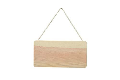 Artemio 21x 11cm Holzschild zum Aufhängen, beige