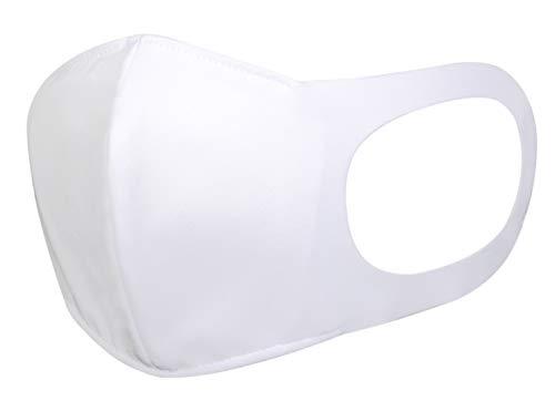 エフマスク(A) 日本製 洗える 布マスク 水着マスク ピュアホワイト 1枚入り 吸汗速乾 接触冷感 UVカット UPF50+(紫外線遮断率99%)