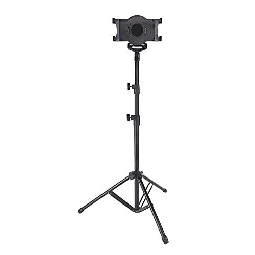 CHHD Soporte para Tableta de aleación de Aluminio de 10 Pulgadas Ajustable, Altura Ajustable 70-140 cm/27,6-55 Pulgadas, Escritorio Negro para iPad Air Stand para Samsung Galaxy Tab P