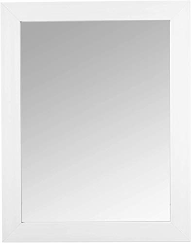 Home Basics Contemporary Rectangle Wall Mirror Hangs Vertical Or Horizontal White