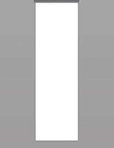 Schiebegardinen nach Maß Schiebevorhänge Maßanfertigung flächenvorhang schiebegardinen inklusive Laufwagen und Beschwerungsstange (H:100cm x B:60cm/Weiß)