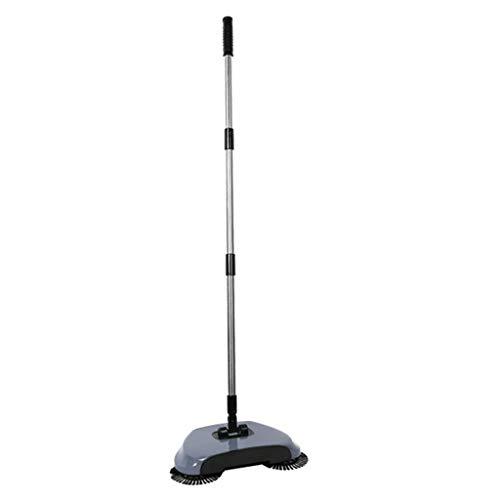 Automatic Hand Push Sweeper Magic Spinning Broom 360Deg Rotating No Electric - Grey