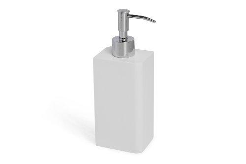 Kassatex Lacca Lotion Dispenser, White