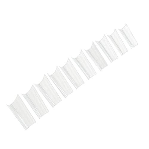 Ongles Acryliques Fausses Ongles Amovibles Couvre-clés De Clous De Clou De Flocons Clous De Bricolage Ongles De Bricolage Décoration Clair 500pcs