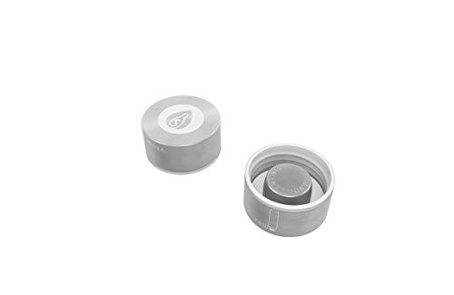 spottle® Edelstahl- und Bambusdeckel für Glasflaschen in 550, 750 und 950ml / Metall- und Holzdeckel für Glas-Trinkflaschen/Ersatzdeckel (Edelstahldeckel ohne Schlaufe)