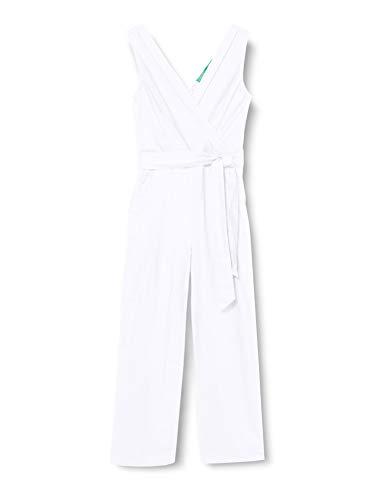 United Colors of Benetton (Z6ERJ) Damen Tuta Intera Hose, Bianco 101, 48