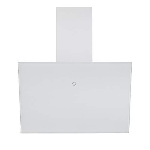 VLANO MELIA Plus EEK A+ 60 cm weiß Umluft Kopffreie Dunstabzugshaube Glas Design/Touch Control/ECO LED/Extra leiser Brushless Motor/Abluft/Umluft (inkl. Umluft Set60 cm, weiß)