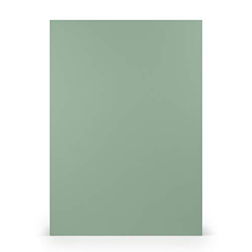 PAPERADO 25x Bastelkarton DIN A4 - Eucalyptus gerippt Grün 220 g/m² Tonkarton - Dickes Bastelpapier in 29,7 x 21 cm Malen, Basteln perfekte Bastelpappe