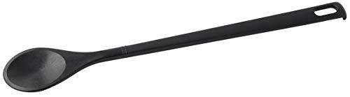 FACKELMANN 23744 Kochlöffel RUND NERO 31cm HÄNGB, Kunststoff, schwarz