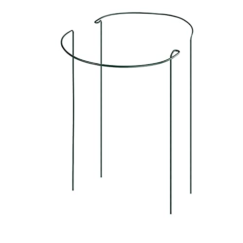 cozyou 2-Pack Half Round Garden Plant Support Ring Hoop, 7.9 Wide x 13.8 High