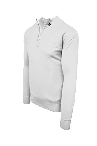 STACY ADAMS Men's Sweater, Solid Mock (3XL, White)