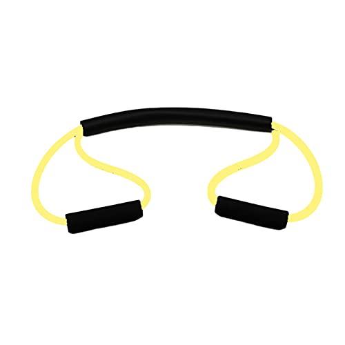 Capacitación de Resistencia de Boxeo Cinta de Goma Sombra Soporte Punzonado Dodge Ejercicio Tire de Cuerda Brazo Fuerza Entrenamiento Inicio Gimnasio Entrenamiento 0429 (Color : Yellow)