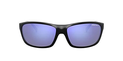 Arnette 0AN4263 Gafas, Negro/Polarized Gris Oscuro Espejo Agua, 63 para Hombre