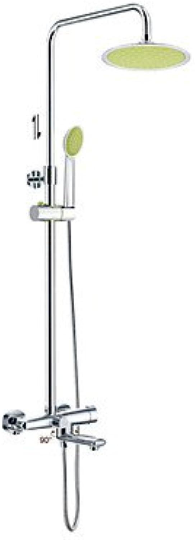 Miaoge Duscharmaturen - Zeitgenssisch - Regendusche Handdusche inklusive - Messing ( Chrom )