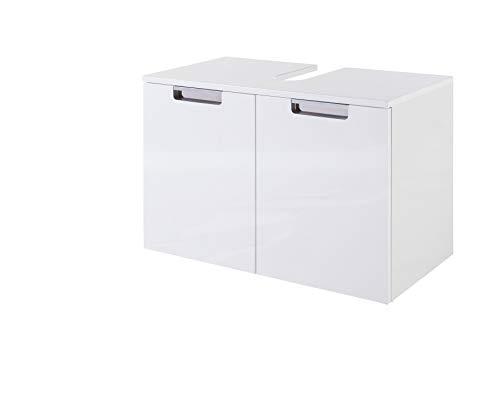 Schildmeyer Rilana 130513 Waschbeckenunterschrank, weiß Glanz, 46,5 x 33 x 35 cm