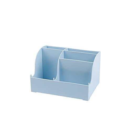 Caja de almacenamiento de escritorio, organizador de productos para el cuidado de la piel, estante de cosméticos, organizador compartimental, adecuado para profesores, estudiantes, oficinas, bolígrafo