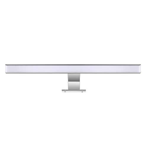 LED Spiegelleuchte Spiegellicht Badlampe LED Spiegellampe 60cm Spiegellicht Badlampe Verchromt, (4200K), 600lm, 48x2835SMDs, Badleuchte Schrankleuchte Wandlampe Wandleuchte CRI>80