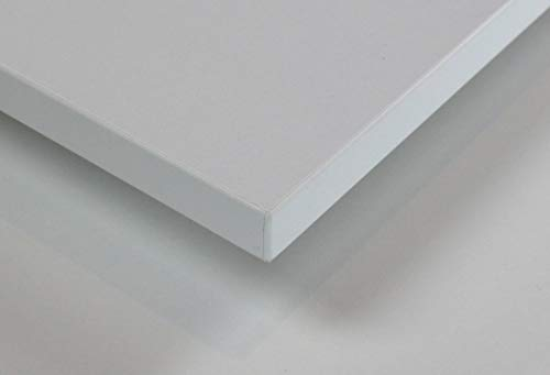 MySpiegel.de Tischplatte Holz Zuschnitt nach Maß Beschichtete Holzdekorplatte (120 x 60 cm, Weiß)