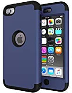 iPod Touch 5 Case,iPod Touch 6 Case,Heavy Duty High Impact Armor Case Cover Protective Case for Apple iPod Touch 5 6th Generation (Deep Blue/Black)
