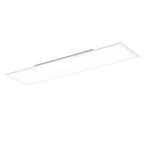 LED Panel flach, 120x30, dimmbare Decken-Lampe | neutralweiß kaltweiss 4000 Kelvin | Decken-Leuchte für Büro, Wohnzimmer, Küche und Bad