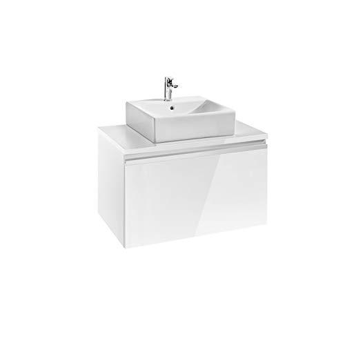 Roca Waschtisch Grundlage für Waschbecken auf Waschtischplatte–Serie Heima, weiß glanz