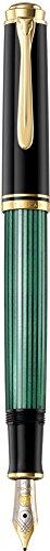 Pelikan Souverän M400 - Pluma estilográfica, color negro y verde