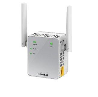 Netgear EX3700-100UKS - Extensor de Red AC750 (Wi-Fi, Dual-Band, Antenas externas, repetidor WiFi, 1 Puerto), Color Blanco [Enchufe inglés]