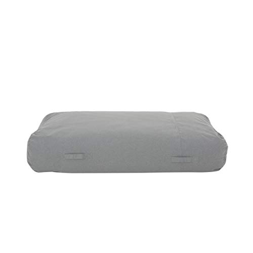 Christopher Knight Home 308043 Vivien Outdoor Water Resistant 6'x3' Lounger Bean Bag, Charcoal