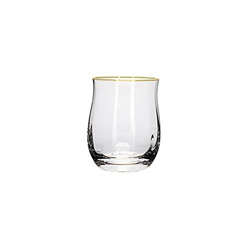 HEIYANQUANblb Botella De Agua, Copa de Agua de Cristal Creativa, patrón Vertical, Cristal, Muebles para el hogar, Taza de Bebidas, Esencial para Picnic Fiesta, Tamaño: 6 * 9.7 * 7.1cm
