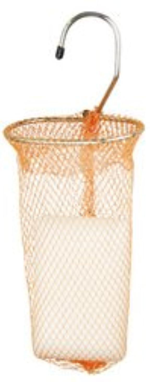 コーナー受粉する北米石けんネット リングタイプ 10枚組 オレンジ
