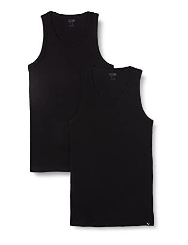 PUMA Basic Men's Tank Top (2 Pack) sous-vêtements, Noir, XL Homme