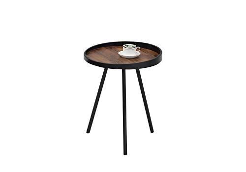 Meubletmoi salontafel, rond, decoratie, eikenhoutlook, metalen poten – industrieel design – KAP Small