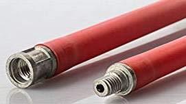 M12 - Lot de 10 tringles de 1 m de long - Rallonge pour kit de ramonage de nettoyage pour conduits de cheminée, poêle à granulés