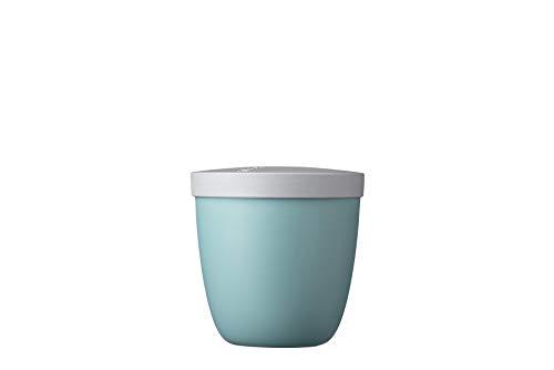 Mepal Snackpot Ellipse Nordic Green – 500 ml praktischer Behälter zur Aufbewahrung und für Transport von Lebensmittel – tiefkühltauglich – spülmaschinenfest, PP, 107 mm