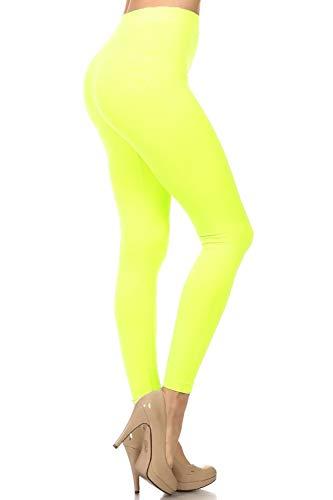 NeonNation Leggings sin costuras de colores o pantalones deportivos traje de fiesta medias calidad para mujer