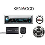 Kenwood KMR-D765BT Marine CD Player with SXV300V1 SiriusXM Satellite Radio Tuner and Antenna with KCA-RC35MR Remote and a Free SOTS Air Freshener