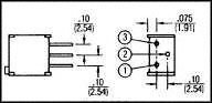 BOURNS 3299Y-1-203LF TRIMMER POTENTIOMETER THRU 20KOHM Industry No. 1 25TURN Super-cheap
