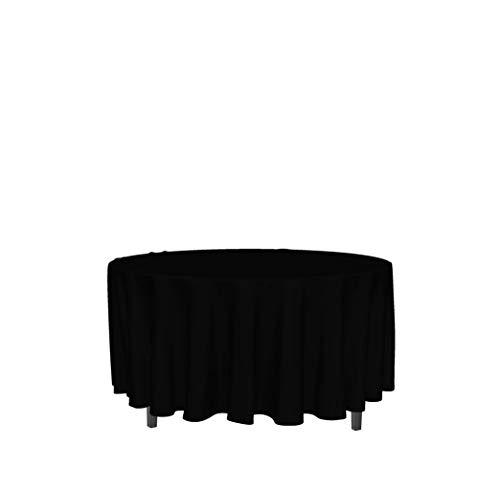 Mantel Antimanchas Redondo 180 cm Alix Negro