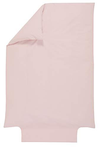 P'tit Basile - Housse de couette bébé 100% Coton Bio - 100x140 cm - Rose Pétale - Coton de qualité supérieure certifié Gots et Oekotex