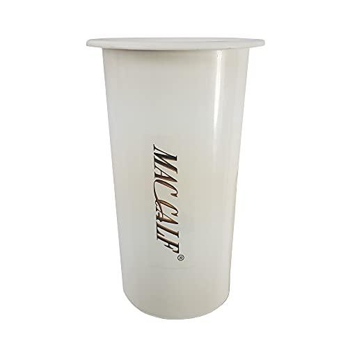 INCARTAMI-ITALIA Vaso Rotondo PLASTICA per Fiori Diametro 12 Alto 20 Bianco con Bordo