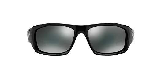 Oakley Men's OO9236 Valve Rectangular Sunglasses, Polished Black/Black Iridium, 60 mm