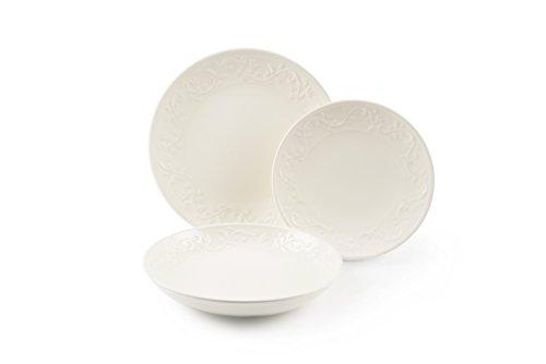 Excelsa Fine Quality - Vajilla de 18 Piezas, cerámica, Color Blanco