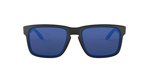 Oakley Holbrook Gafas de Sol Polarizadas Unisex, Negro (Matte Black/Emerald Iridium Polarized), 55