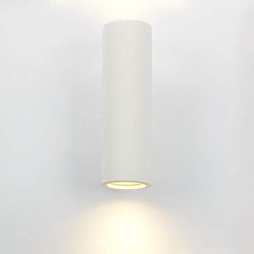 Plâtre Applique murale PETER Intensité variable Up Down Lampe murale rond blanc GU10 Lampe Couloir lampe recouvrable