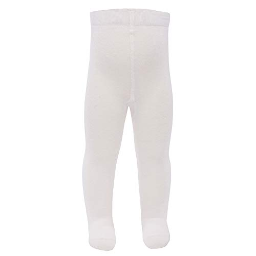 Ewers Baby- & Kinderstrumpfhose für Mädchen Rüschen am Po, Made in Europe, Strumpfhose Baumwolle Uni Basic